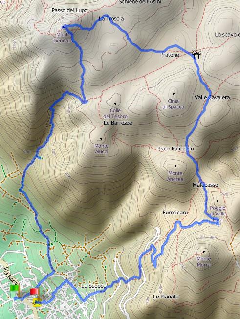 monte gennaro trekking